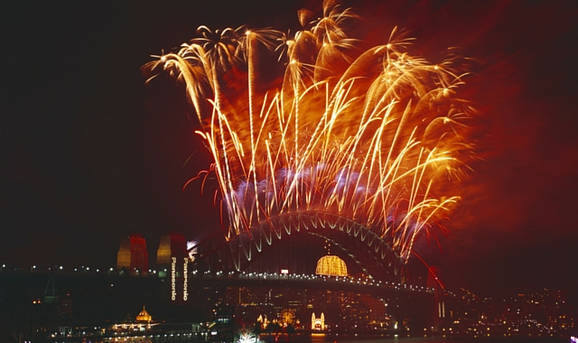 best year yet - fireworks over sydney harbour bridge