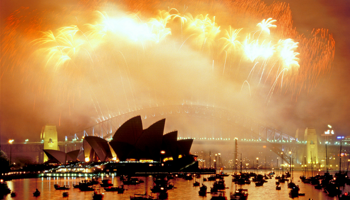 theme goal setting resilience new year fireworks sydney harbour