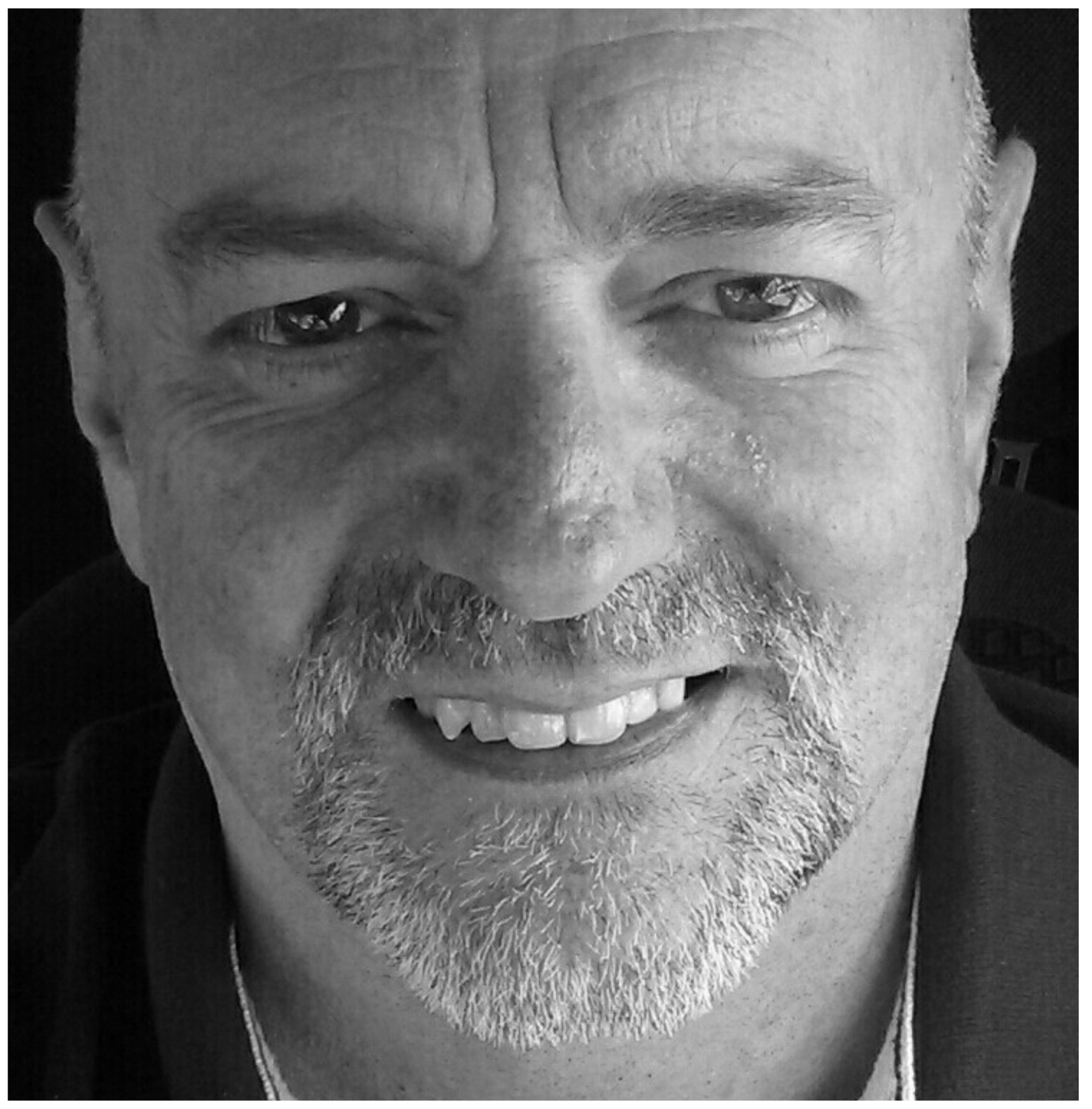 Geoff Hughes profile photo black and white
